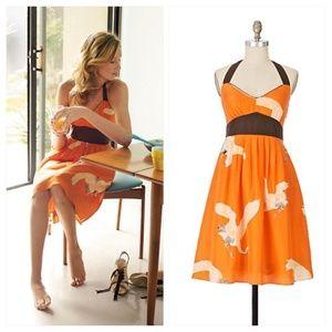 Anthropologie Sandhill Crane Dress